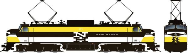 Rapido HO Scale EP-5 Electric New Haven – Experimental Yellow (W/ Vents) DCC Ready *Pre-order*