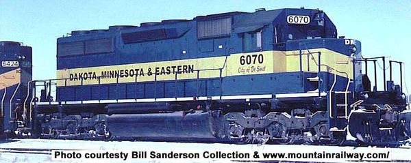 Bowser Ho Scale SD40 SD40 Dakota, Minnesota & Eastern W/ Ditchlights DCC Ready *Pre-order*