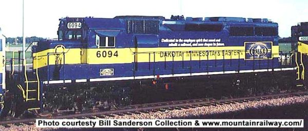 Bowser Ho Scale SD40 Dakota, Minnesota & Eastern Employee Dedication Scheme W/ Ditchlights DCC Ready *Pre-order*