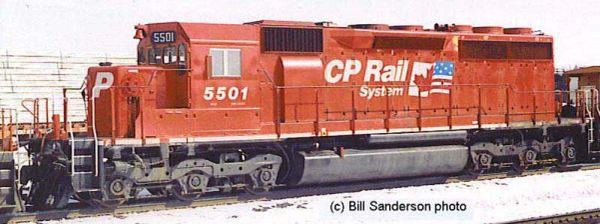 Bowser Ho Scale SD40 CP Rail Dual Flags W/ Ditchlights, DCC & Sound *Pre-order*