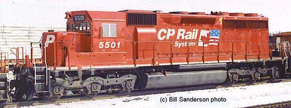 Bowser Ho Scale SD40 SD40 CP Rail Dual Flags W/ Ditchlights DCC Ready *Pre-order*