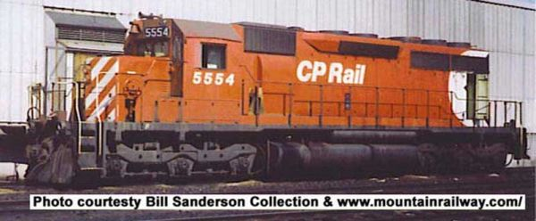 "Bowser Ho Scale SD40 CP Rail 8"" Stripes Large Multimark, W/ Ditchlights DCC & Sound *Pre-order*"