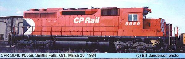"""Bowser Ho Scale SD40 CP Rail 8"""" Stripes Small Multimark, W/ Ditchlights DCC & Sound *Pre-order*"""