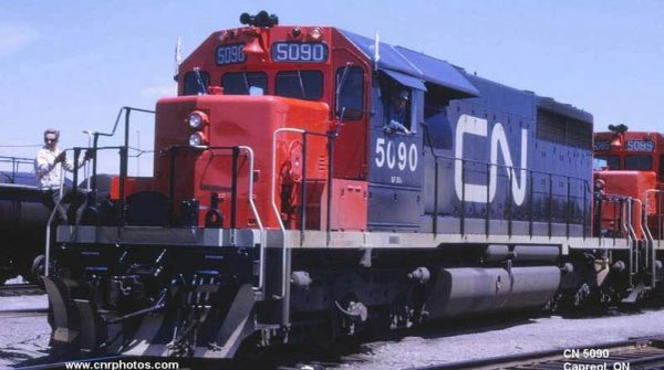 Bowser Ho Scale SD40 CN Noodle, W/ Snow Shields, 2 Class Lights W/O Dynamic Brake & Ditchlights DCC Ready *Pre-order*