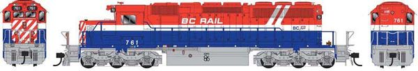 Bowser Ho Scale SD40-2 (3rd Release) BC Rail RWB Hockey DCC & Sound *Pre-order*