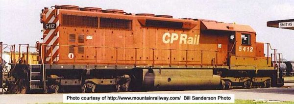 "Bowser Ho Scale SD40 CP Rail 8"" Nose stripes, No multi mark W/ Ditchlights DCC Ready *Pre-order*"