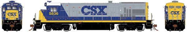 Rapido Ho Scale B36-7 CSX (White Roof) W/Ditchlights DCC & Sound *Pre-order*