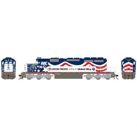 Athearn Ho Scale SD40 UP/United Way #3300 DCC Ready *Pre-order*