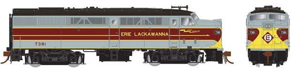Rapido Ho Scale FA-2 Erie Lackawanna (grey/maroon) DCC & Sound *Pre-order*