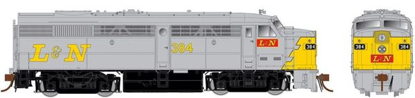 Rapido Ho Scale FA-2 (ex-FPA-2) Louisville & Nashville (grey/yellow) DCC Ready *Pre-order*