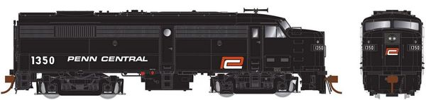 Rapido Ho Scale FA-2 Penn Central (black with red 'P') DCC & Sound