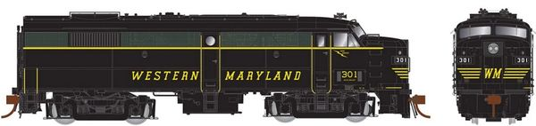 Rapido Ho Scale FA-2 Western Maryland (Speed Lettering) DCC & Sound *Pre-order*