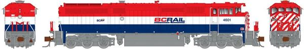 Rapido N Scale Dash 8-40CM British Columbia Railway (As Delivered) DCC Ready W/Ditchlights *Pre-order*