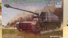 """Trumpeter German 12.8cm Selbstfahrlafette L/61 """"Sturer Emil"""" 1/35"""