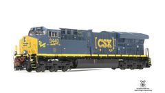 Scaletrains Rivet Counter Ho Scale GE Tier 4 ET44AH Gevo CSX (3nd Release) DCC & Sound