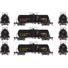 Athearn Genesis Ho Scale 13,600 Gallon Acid Tank UTLX (3) Pack