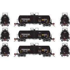 Athearn Genesis Ho Scale 13,600 Gallon Acid Tank Procor (3) Pack