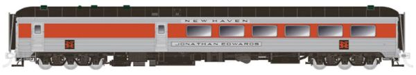 Rapido Ho Scale New Haven – McGinnis Scheme without skirts Stainless Steel Dining Car