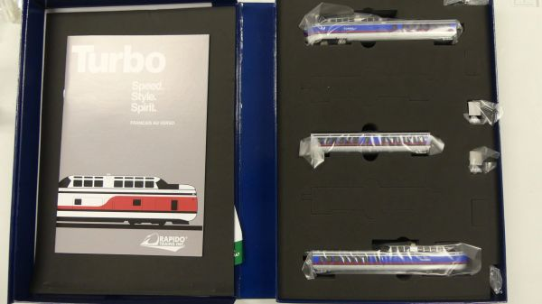 Rapido N Scale TurboTrain Penn Central/US DOT DC