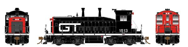 Rapido Ho Scale SW1200 Grand Trunk Western (Black & Orange) DCC Ready *Pre-order*