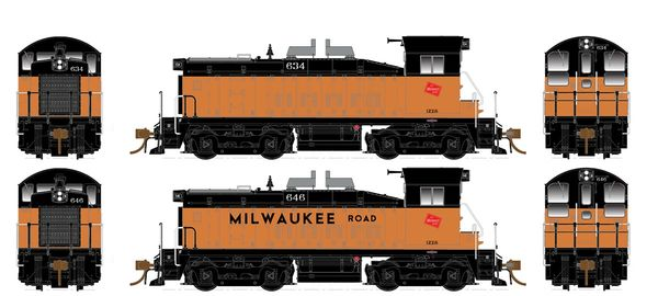 Rapido Ho Scale SW1200 Milwaukee Road DCC & Sound *Pre-order*