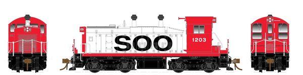Rapido Ho Scale SW1200 Soo Line DCC & Sound *Pre-order*