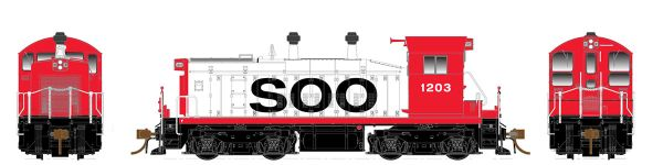 Rapido Ho Scale SW1200 Soo Line DCC Ready *Pre-order*