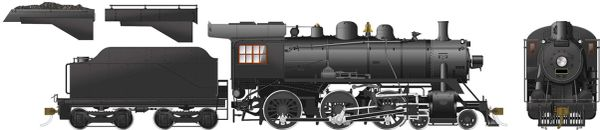 Rapido Ho Scale D10 4-6-0 Painted, Unlettered DCC & Sound *Reservation*