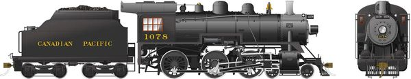 Rapido Ho Scale Canadian Pacific D10k 4-6-0 #1078 DCC Ready *Reservation*