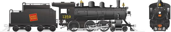 Rapido Ho Scale H-6-g Canadian National #1359 (4-6-0) DCC & Sound *Reservation*