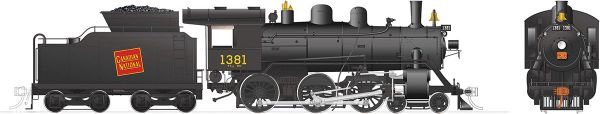 Rapido Ho Scale H-6-g Canadian National #1381 (4-6-0) DCC & Sound *Reservation*