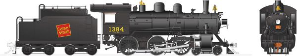 Rapido Ho Scale H-6-g Canadian National #1384 (4-6-0) DCC & Sound *Reservation*