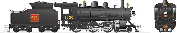 Rapido Ho Scale H-6-d Canadian National #1330 (4-6-0) DCC & Sound *Reservation*