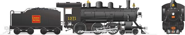 Rapido Ho Scale H-6-g Canadian National #1371 (4-6-0) DCC & Sound *Reservation*