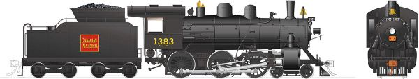 Rapido Ho Scale H-6-g Canadian National #1383 (4-6-0) DCC & Sound *Reservation*