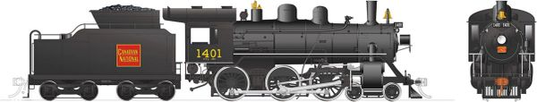 Rapido Ho Scale H-6-g Canadian National #1401 (4-6-0) DCC & Sound *Reservation*