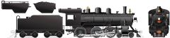 Rapido Ho Scale H-6 Canadian National Painted, Unlettered (4-6-0) DCC & Sound *Reservation*