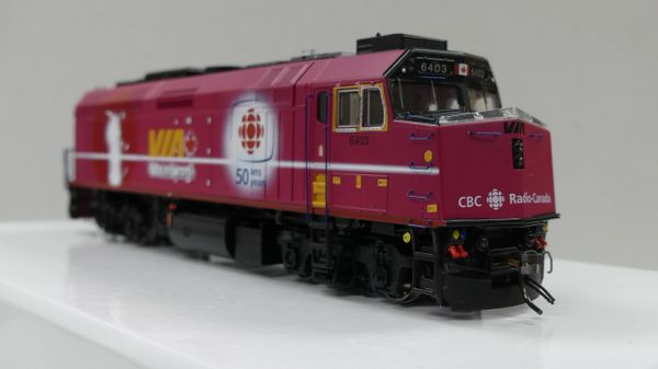 "Rapido Ho Scale Via Rail F40PH-2D #6403 ""CBC 50th"" DCC & Sound"