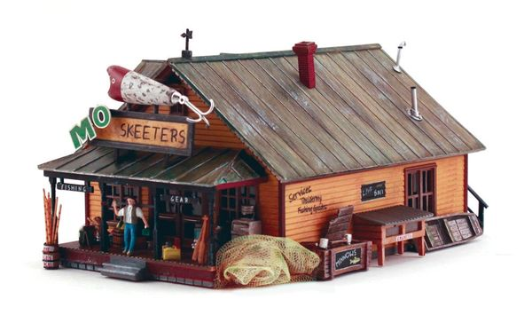 Woodland Scenics HO Scale Built & Ready Mo Skeeters Bait & Tackle
