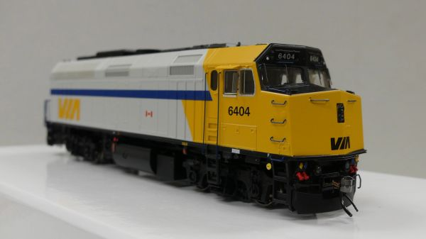 "Rapido Ho Scale Via Rail F40PH-2D ""As Delivered"" DCC & Sound"