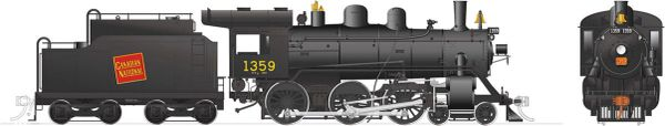 Rapido Ho Scale H-6-g Canadian National #1359 (4-6-0) DCC Ready *Reservation*