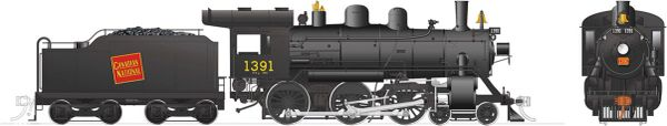 Rapido Ho Scale H-6-g Canadian National #1391 (4-6-0) DCC Ready *Reservation*