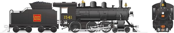Rapido Ho Scale H-6-d Canadian National #1541 (4-6-0) DCC Ready *Reservation*