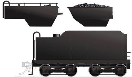 Rapido Ho Scale H-6-d/g Canadian National Tender (Painted, Unlettered) *Reservation*