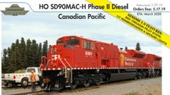 Athearn Genesis 2.0 Ho Scale SD90MAC-H Canadian Pacific DCC & Sound *Reservation*