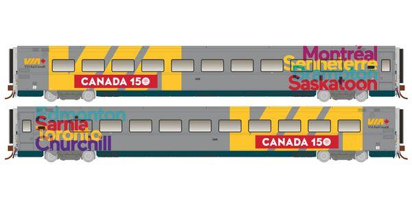 Rapido Ho Scale Via Canada 150 LRC Cars