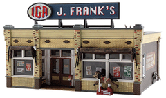 Woodland Scenics HO Scale Built & Ready J. Franks Grocery Store