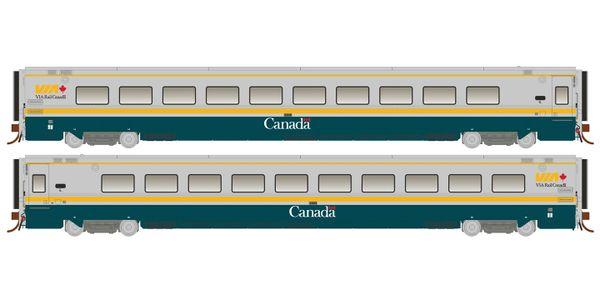 Rapido Ho Scale Via Rail Green Scheme LRC Coaches