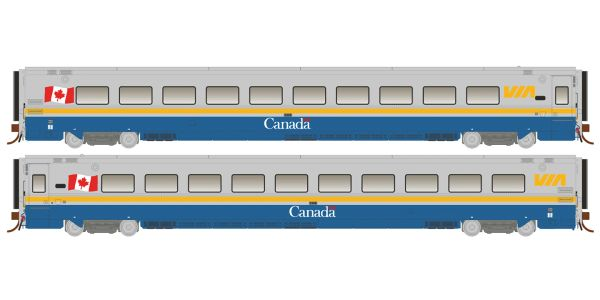 Rapido Ho Scale Via Rail Canada Scheme LRC Coaches