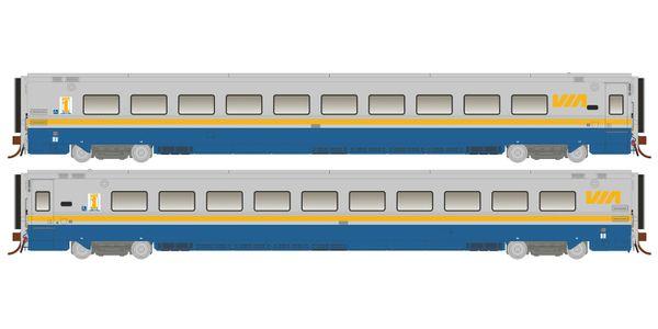 Rapido Ho Scale Via Rail LRC Club Cars *Reservation*